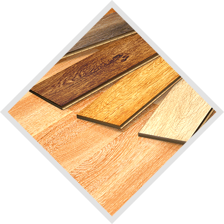 Various colored wood boards
